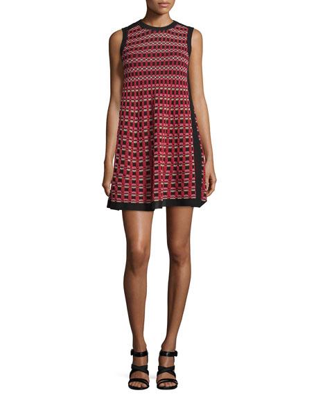 M Missoni Sleeveless A-Line Mini Dress, Red