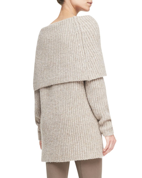 Off-The-Shoulder Cowl-Neck Sweater