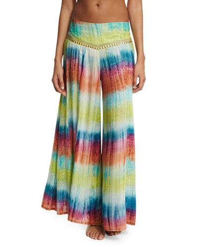 Mirage Tie-Dye Wide-Leg Coverup Pants