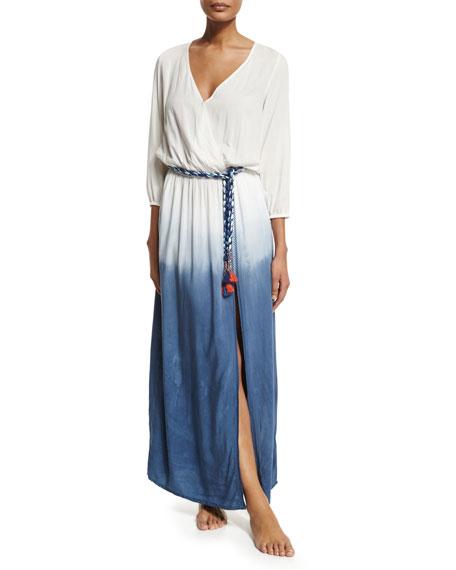 ONDADEMAR Rosental Dip-Dye Maxi Coverup Dress