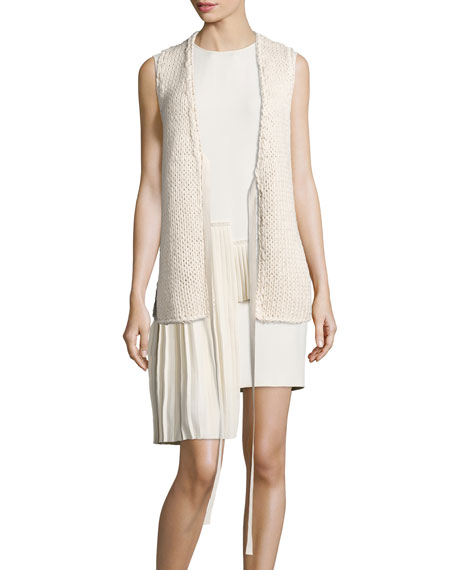 Maison Margiela Open Knit Sweater Vest & Sleeveless