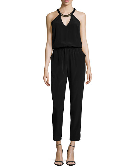 Laundry by Shelli Segal Blouson Halter Jumpsuit