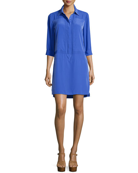Laundry by Shelli Segal 3/4-Sleeve Collared Shirtdress, Dazzling