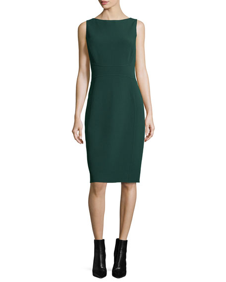 Michael Kors Collection Sleeveless Sheath Dress, Forest