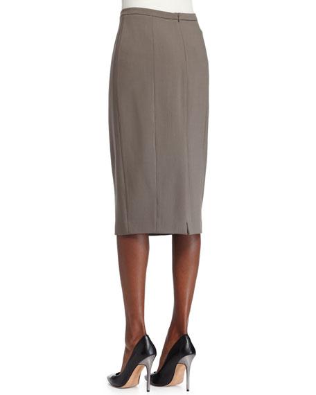 Seamed Pencil Skirt, Java