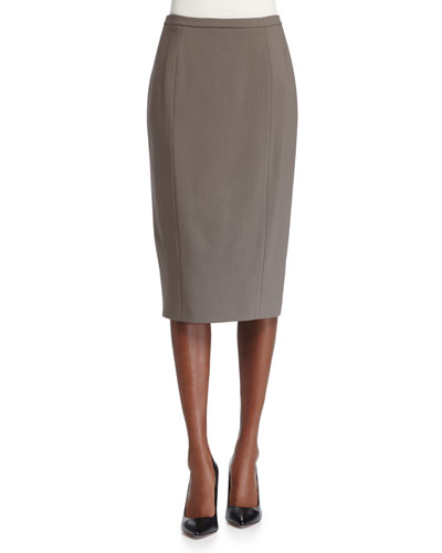 Seamed Pencil Skirt, Java