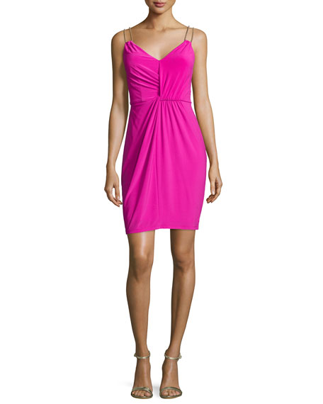 Laundry By Shelli Segal Embellished Double-Strap Sheath Dress,