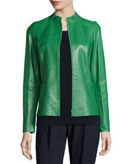Hera Lambskin Leather Jacket