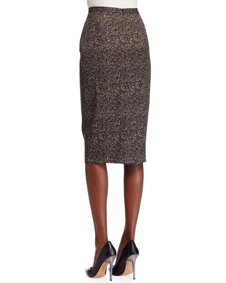 michael kors collection seamed wool pencil skirt chocolate