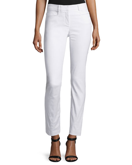 ZAC Zac Posen Mid-Rise Skinny Pants, White