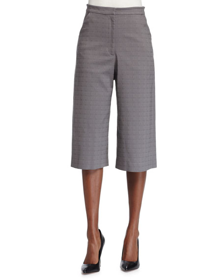ZAC Zac Posen Cropped Culotte Pants, Summer Storm