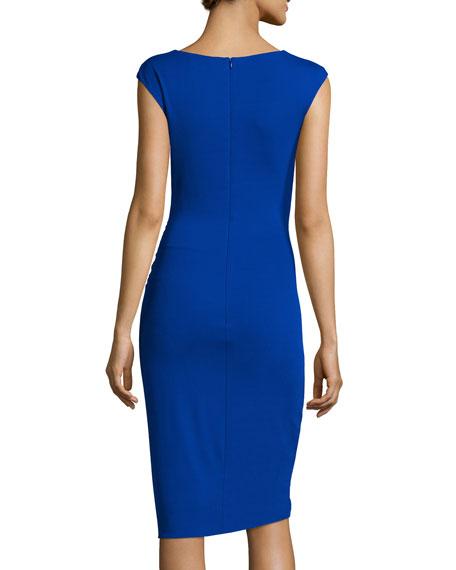 Sleeveless Tulip Dress, Cobalt