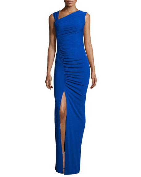 Michael Kors Collection Sleeveless Asymmetric Tank Gown, Sapphire