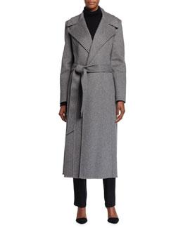 Melton Bathrobe-Style Coat