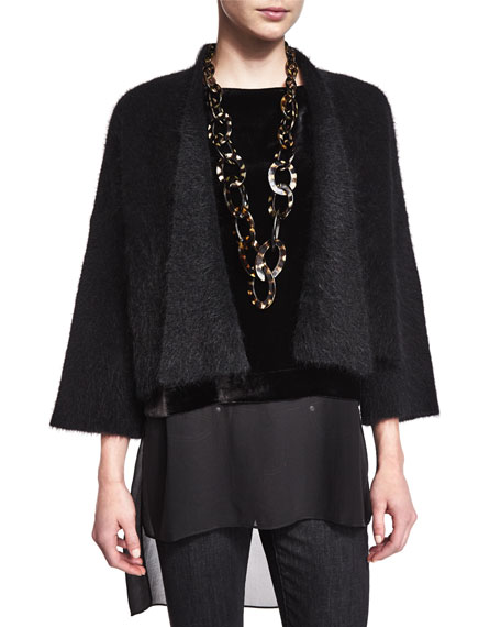 Eileen Fisher Mohair Cropped Cardigan