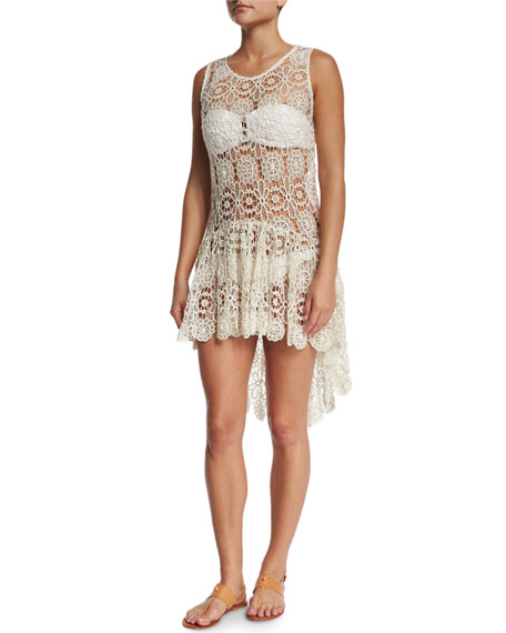 PilyQ Island Crochet-Lace Coverup Dress