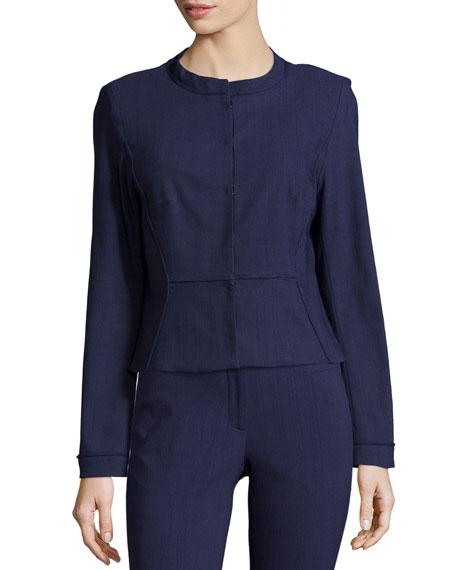 ZAC Zac Posen Tori Long-Sleeve Jacket, Navy