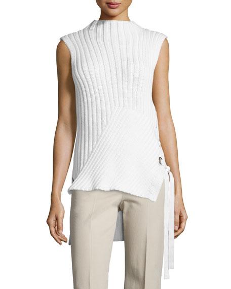 Derek Lam 10 Crosby Sleeveless Ribbed-Knit Sweater, Soft