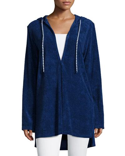 Hooded Long-Sleeve Tunic, Navy