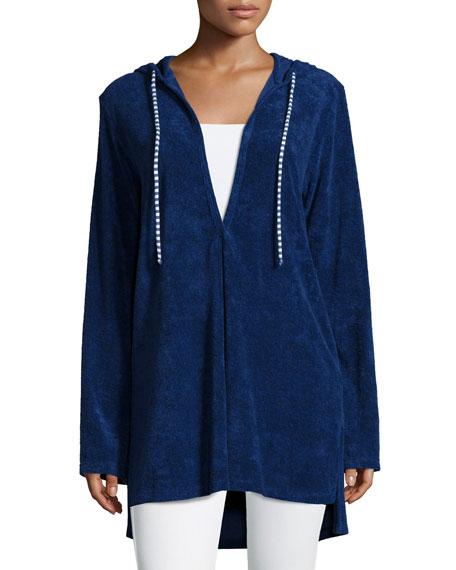 Splendid Hooded Long-Sleeve Tunic, Navy