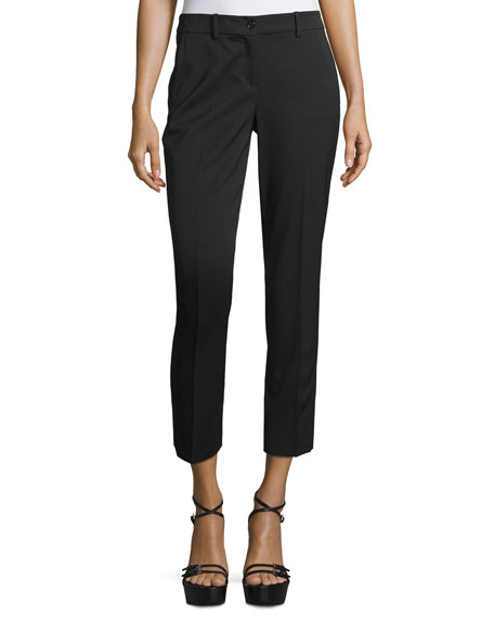 Michael Kors Samantha Skinny Cropped Pants, Black