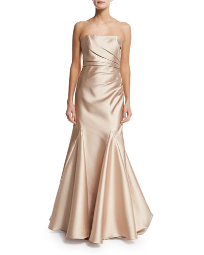 Strapless Ruched Ball Gown
