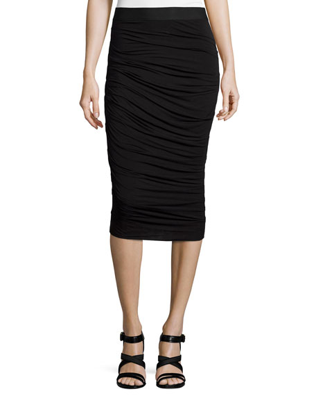 Bailey 44 Scotty Ruched Pencil Skirt, Black