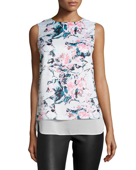 Avery Vintage-Floral Tank, Pink