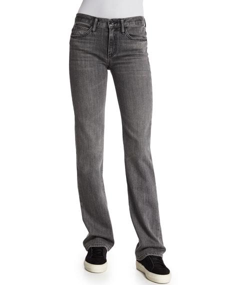 Helmut Lang Flare-Leg Denim Jeans, Light Gray