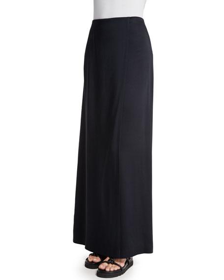 Helmut Lang Woven Bias-Cut Maxi Skirt, Black