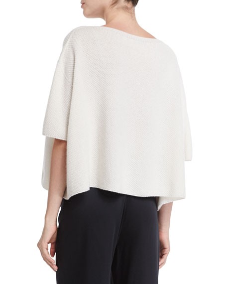 Helmut Lang Cropped Cashmere Sweater & Woven Wide-Leg Pants