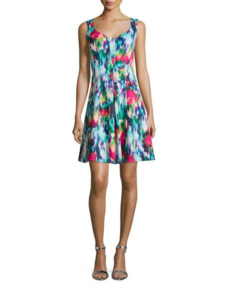 Nanette Lepore Sleeveless Floral-Print A-line Dress