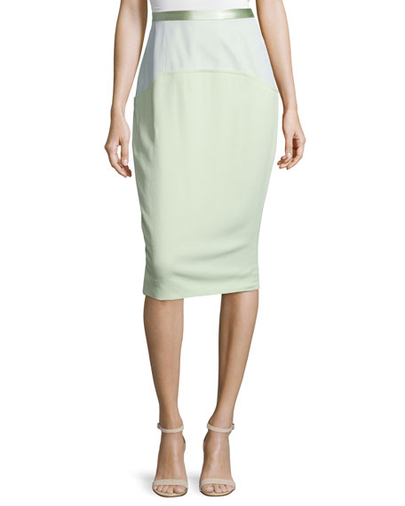 Prabal Gurung Combo Pencil Skirt, Mint