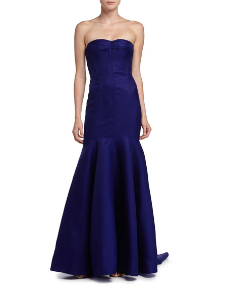 Strapless Mermaid Gown, Imperial Blue