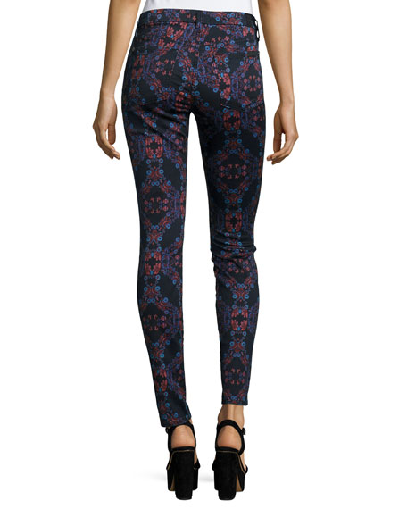 The Mid-Rise Kaleidoscope Skinny Jeans, Radiant Stained Glass