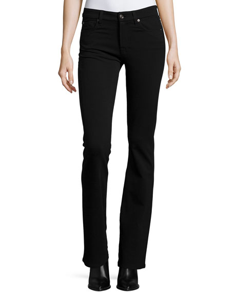 7 For All Mankind Kimmie Boot-Cut Jeans, Black