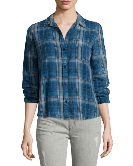 Current/Elliott The Workwear Slim Boy Shirt, Abbot Plaid