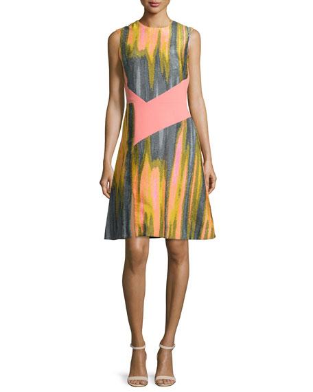 Prabal Gurung Sleeveless Combo A-line Dress