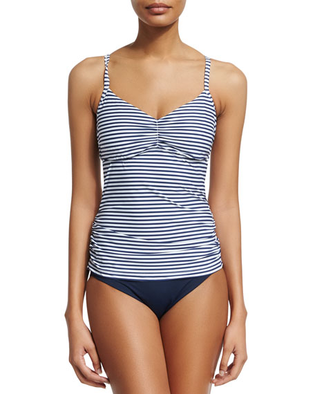 Seafolly Riviera Stripe DD Cup Singlet Swim Top