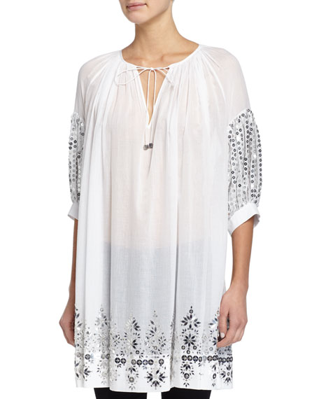 Michael Kors Collection Hand-Embroidered Caftan Tunic