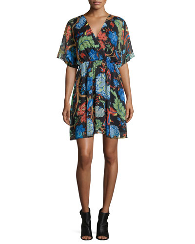 Cay Floral-Print Dress, Multi Colors