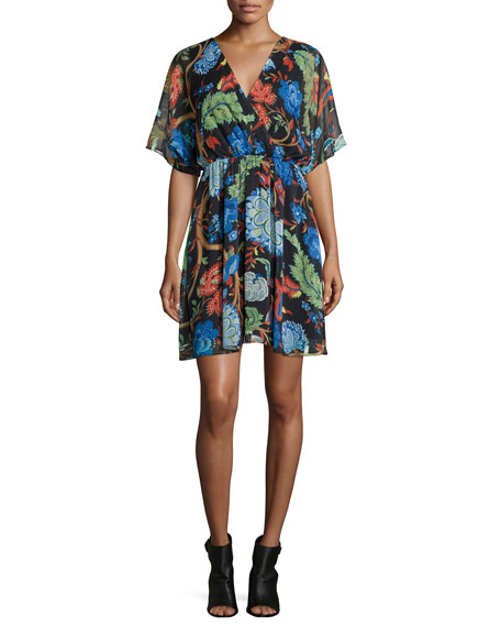 Alice + Olivia Cay Floral-Print Dress, Multi Colors