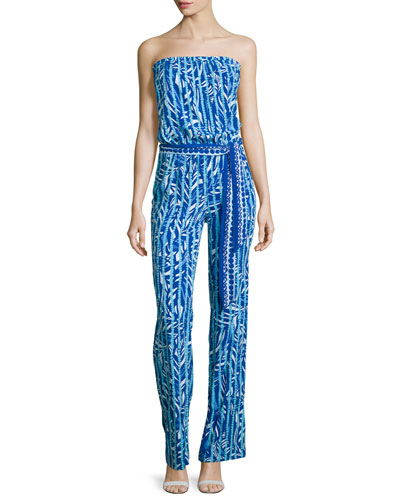 Lilly Pulitzer Tia Vintage Strapless Printed Jumpsuit