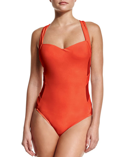 Infinity Molded Satin-Side One-Piece Swimsuit