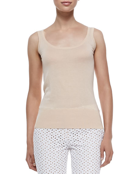Michael Kors Collection Cashmere Tank Top, Nude