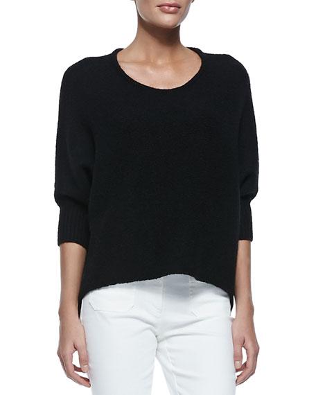 Michael Kors Collection Dolman-Sleeve Crewneck Sweater, Black