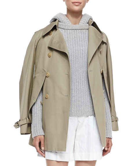 Michael Kors Collection Convertible Cape/Trench Jacket