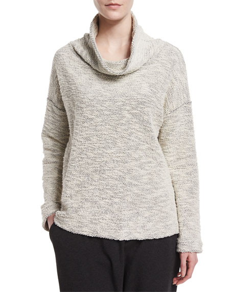 Eileen Fisher Funnel-Neck Soft-Spun Top
