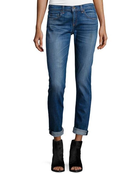 rag & bone/JEANDre Low-Rise Cropped Jeans, Stoke