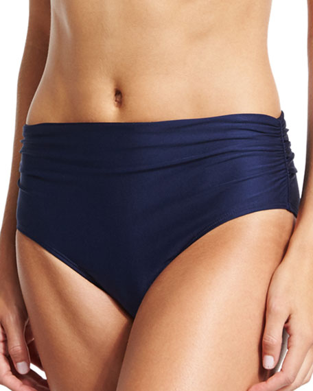 Luxe by Lisa Vogel Ruched-Side Hipster Swim Bottom,